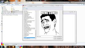 Cara Membuat Meme Comic - cara membuat meme comic pc simple youtube