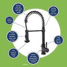 vigo kitchen faucets vigo edison single handle pull spray kitchen faucet matte