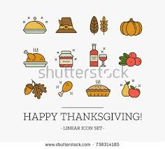 thanksgiving colors icons free vector stock