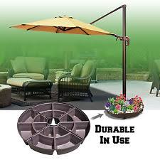 Patio Umbrella Stand by Outdoor Patio Umbrella Stand Deck Parasol Sand Weight Base Ebay