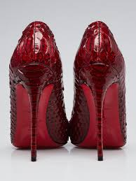 christian louboutin red snakeskin so kate 120 pumps size 4 5 35
