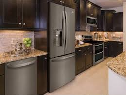 kitchen ideas with stainless steel appliances these samsung black stainless steel appliances look beautiful in
