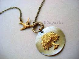 items similar to weeping willow tree necklace in brass on etsy
