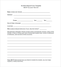 report form template report format word incident report template report format word