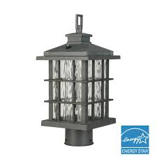 Outdoor L Post Lighting Fixtures Hardwired Post Lighting Outdoor Lighting The Home Depot