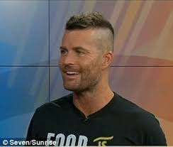 new age mohawk hairstyle my kitchen rules pete evans unveils dramatic mohawk hairdo