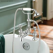 windsor designer traditional freestanding roll top bath br31 canterbury bath shower mixer tap fixed bath tap detail