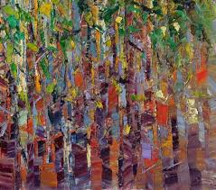 Painting For Kitchen by Oil Painting Birch Tree Painting Abstract Canvas Artwork Canvas