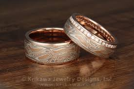 mokume gane mokume gane diamond channel side chagne