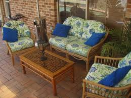 Discount Outdoor Furniture by Patio 58 Dark Brown With Blue Lamp Wicker Chair Cushions For