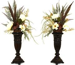 Home Decor Silk Flower Arrangements Hand Made Silk Flower Arrangement Fireplace Mantel Decor Dining