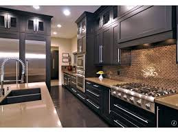 How To Remodel A Galley Kitchen Kitchen Reddish Brown Galley Kitchen Scheme With Black Granite