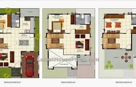 three bedroom ground floor plan home architecture three bedroom luxury villa house plan in area
