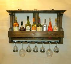 Reclaimed Wood Bar Cabinet Reclaimed Wood Wine Shelf Build Your Own Wine Rack Rustic Wall