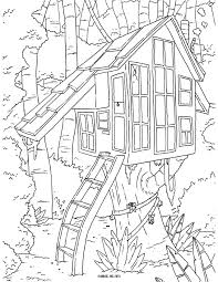extravagant treehouse coloring pages kids drawing of a treehouse
