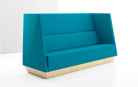High Back Settee With Arms Caid Lounge Seating élan By Decca