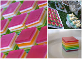 layered rainbow shots rainbow jelly square delights recipe play and go