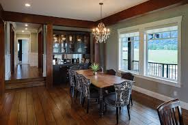 Craftsman Open Floor Plans Damask Dining Room Dining Room Traditional With White Window Trim
