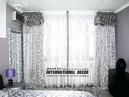 White Patterned Curtains White Curtains With Black Pattern Rabbitgirl Me