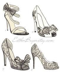 drawn shoe fashion sketch pencil and in color drawn shoe fashion