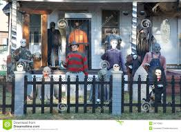 halloween decorated house extreme halloween decorating editorial photography image 34710962