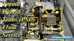 toyota hybrid transmission psd fluid service youtube