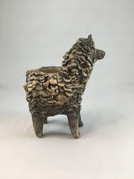 animal planter sheep brown u2013 naominickersonceramics