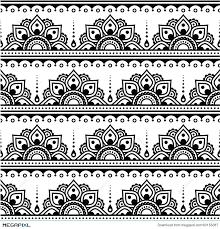 mehndi indian henna tattoo seamless pattern design elements