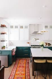 kitchen having a good kitchen design with boho cabinet style