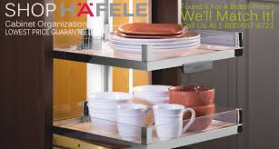 Cabinet Organizers Kitchen Cabinet Organizers By Hafele RevA - Roll out kitchen cabinet shelves