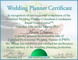 wedding planner classes wedding planning certificate adecs certificates