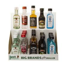 alcoholic drinks brands big brands miniature party box 20 x 5cl just miniatures