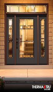 Exterior Door Options by Therma Tru Classic Craft Canvas Collection Fiberglass Door Painted