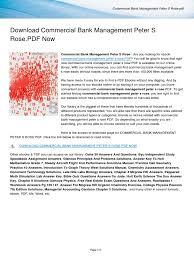 commercial bank management peter s rose pdf e books portable