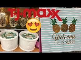 tjmaxx shop with me summer home decor youtube