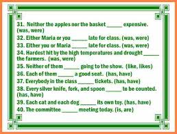 7 subject verb agreement exercises with answers purchase