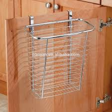 Over The Cabinet Door Basket by Over The Kitchen Metal Hanging Baskets Cabinet Door Basket Holder