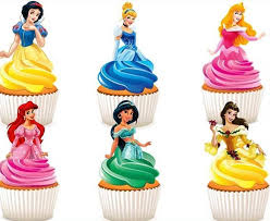 cupcake toppers disney princesses edible stand up wafer paper cupcake toppers