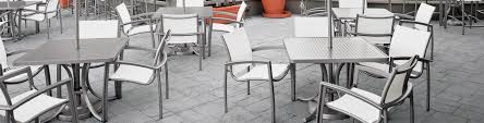 commercial grade outdoor furniture best design tough solid metal chairs rectangle table chromed finish white seat