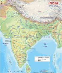 world rivers map river map of india india rivers