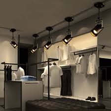 retro loft vintage led track light industrial ceiling lamp bar