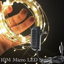 10m 100led micro mini led string light on copper silver wire with