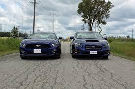 2016 subaru wrx turbo 2015 ford mustang ecoboost vs subaru wrx autoguide com news