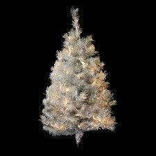 Pre Lit Pre Decorated Christmas Trees ᗑ Northlight 3 Ft Pre Lit Tinsel Artificial Christmas Tree With 50
