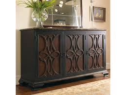 Kitchen Cabinet Appliques Hooker Furniture Living Room Accents Two Tone Credenza With Raised