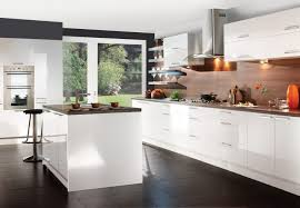 White Kitchen Design Stunning White Kitchen Design With Elegant Chairs And Floor 3936