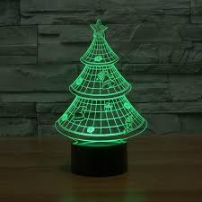 tree 3d optical illusion led l hologram the 3d l