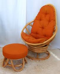 Swivel Rocking Chair With Ottoman Wonderful Retro Rattan Swivel Rocker With Ottoman Omero Home