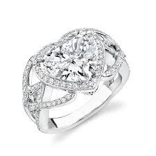 Heart Shaped Wedding Rings large heart shaped diamond rings wedding promise diamond