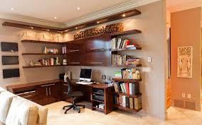 Lighting For Bookshelves by Home Office Lighting Over Wall Mounted Cabinet And Bookshelves